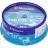 Оптический диск Verbatim CD-R 700МБ Cake Box (25 шт), купить за 725руб.
