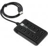 USB концентратор 5bites HB210-205PBK, черный, купить за 860руб.
