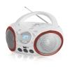 Магнитола BBK BX150BT белая/красная, купить за 2 525руб.