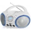 Магнитола BBK BX150BT белая/голубая, купить за 2 740руб.
