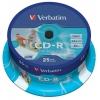 Оптический диск Verbatim Printable, Cake Box (25 шт), купить за 765руб.