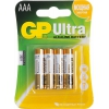 Батарея GP Ultra/Super 24AU / 24A-4 (LR03) Size AAA, щелочной (alkaline) <уп. 4 шт.>, купить за 365&nbsp;руб.