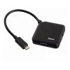 USB концентратор Hama Type-C Plug, черный, купить за 1 035руб.