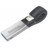 Usb-флешка SanDisk iXpand USB 3.0/Lightning 64Gb, Серая, купить за 2 410руб.