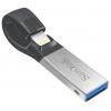Usb-флешка SanDisk iXpand USB 3.0/Lightning 256GB, серебристая, купить за 5 900руб.