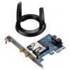 Адаптер wifi ASUS PCE-AC55BT, Черно-синий, купить за 3 060руб.