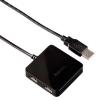 USB концентратор Hama Square1:4 12131, черный, купить за 875руб.