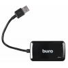 USB концентратор Buro BU-HUB4-U3.0-S, черный, купить за 1 055руб.