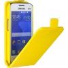Чехол для смартфона SkinBox для Samsung G313/318 Galaxy ace 4 Жёлтый, купить за 90руб.