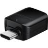 Компьютерный кабель-переходник usb переходник Samsung EE-UN930BBRGRU (OTG, USB A - USB C, F/M), черный, купить за 845руб.