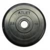 Диск для штанги MB Barbel Atlet (MB-AtletB31-2,5), Черный, купить за 580руб.