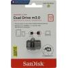 Usb-флешка SanDisk Ultra Dual USB Drive m3.0/USB 3.0 128Gb, черная, купить за 2 825руб.
