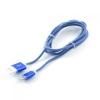 Кабель / переходник Gembird USB 2.0 Cablexpert (CCB-ApUSBb1m) 1м синий металлик, купить за 450руб.