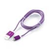 Кабель / переходник Gembird USB 2.0 Cablexpert (CCB-ApUSBp1m) 1 м фиолетовый металлик, купить за 450руб.