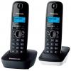 Радиотелефон Panasonic KX-TG1612RU1 тёмно-серый с белым, купить за 2 550руб.
