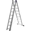 Товар Лестница Сибин универсальная, трехсекционная  9 ступеней, купить за 5 305руб.