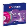 Оптический диск Verbatim DVD-R Slim цветные 43556 (5 шт), купить за 680руб.