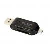 Устройство для чтения карт памяти Ginzzu GR-583UB черный, купить за 435руб.