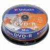 Оптический диск Verbatim DVD-R 43573 (10 шт), купить за 815руб.