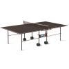 Стол теннисный Start Line Olympic Outdoor с сеткой коричневый, купить за 13 370руб.
