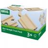 Набор игровой Brio короткие прямые рельсы (железная дорога), купить за 550руб.