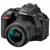 Цифровой фотоаппарат Nikon D5500 KIT (AF-S 18-105mm VR), черный, купить за 61 899руб.
