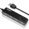 USB концентратор Ginzzu GR-424UB черный, купить за 520руб.