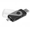 Устройство для чтения карт памяти Ginzzu GR-588UB черный, купить за 755руб.