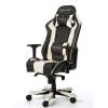 Игровое компьютерное кресло DXRacer King OH/KS06/NW, черное / белое, купить за 33 990руб.