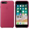 Чехол iphone Apple для iPhone 8 Plus/7 Plus Leather Case MQHT2ZM/A, розовая фуксия, купить за 4075руб.