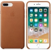 Чехол iphone Apple для iPhone 8 Plus/7 Plus Leather Case MQHK2ZM/A, коричневый, купить за 3370руб.