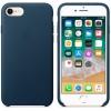 Чехол iphone Apple для iPhone 8/7 Leather Case MQHF2ZM/A, синий, купить за 3775руб.