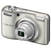 Цифровой фотоаппарат Nikon Coolpix A10, серебристый, купить за 5 799руб.