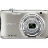 Цифровой фотоаппарат Nikon Coolpix A100, серебристый, купить за 7 999руб.