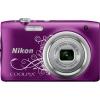 Цифровой фотоаппарат Nikon Coolpix A100, фиолетовый с рисунком, купить за 7 499руб.