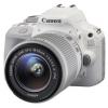 Цифровой фотоаппарат Canon EOS 100D Kit (EF-S 18-55mm IS STM), белый, купить за 31 599руб.