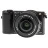 Цифровой фотоаппарат Sony Alpha A5100 Kit (SEL-1650), черный, купить за 33 799руб.