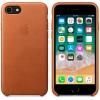 Чехол iphone Apple для iPhone 8 / 7 Leather Case  (MQH72ZM/A), золотисто-коричневый, купить за 3585руб.