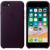 Чехол iphone Apple для iPhone 8/7 Leather Case (MQHD2ZM/A), баклажановый, купить за 4490руб.