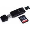 Устройство для чтения карт памяти Orient CR-017B (картридер), Черный, купить за 470руб.