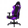 Игровое компьютерное кресло DXRacer Racing  OH/RE0/NV, черное / фиолетовое, купить за 27 000руб.