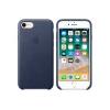 Чехол iphone Apple для iPhone 8/7 Leather Case MQH82ZM/A, темно-синий, купить за 3070руб.