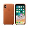 Чехол iphone Apple для iPhone X Leather Case (MQTA2ZM/A), saddle brown, купить за 3420руб.