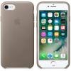 Чехол iphone Apple для iPhone 8/7 Leather Case MQH62ZM/A, платиновый серый, купить за 4115руб.