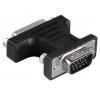 переходник Hama H-34624 (DVI-I — D-Sub, F-M), чёрный, купить за 670руб.