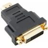Кабель VCom VAD7819 (HDMI - DVI-D DL, M/F), черный, купить за 450руб.