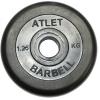 Диск для штанги MB Barbell Atlet MB-AtletB26-1,25 чёрный, купить за 570руб.