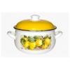 Кастрюля Interos Лимоны (5,7 л), эмаль декоративная, купить за 1 135руб.