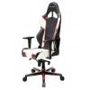 Игровое компьютерное кресло DXRacer OH/RH110/NWR чёрное/белое/красное, купить за 31 990руб.