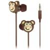 Наушники Kitsound My Doodles Monkey  (DDMKYBUD) коричневые, купить за 1 430руб.